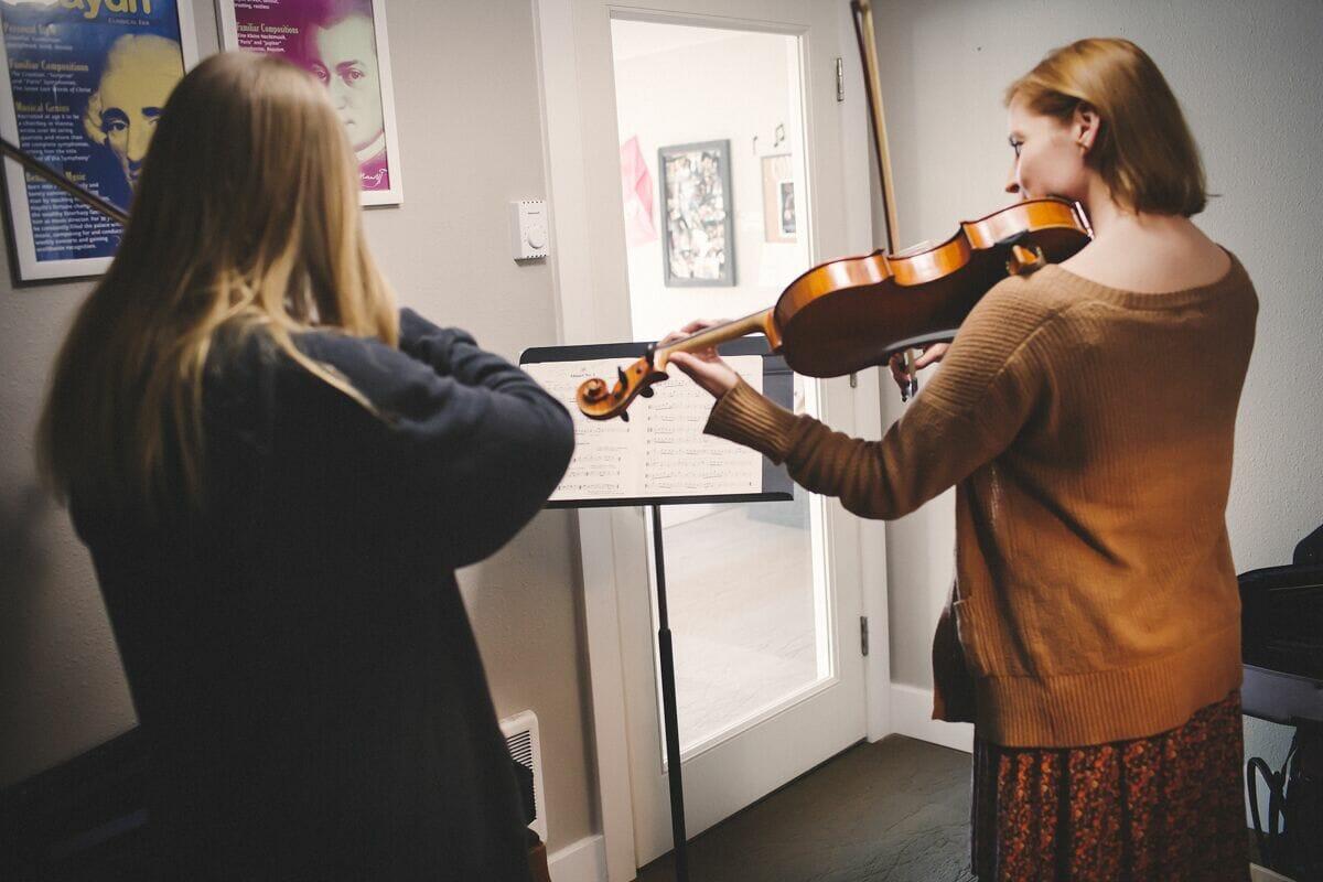 Violin action photo 3
